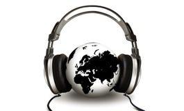 Globo que escucha stock de ilustración