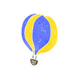 globo retro del aire caliente de la historieta Foto de archivo libre de regalías