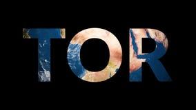 Globo rivelante della terra di tornitura del TOR del testo royalty illustrazione gratis
