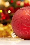 Globo rojo de Christams Imágenes de archivo libres de regalías