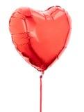 Globo rojo del corazón Imagen de archivo libre de regalías