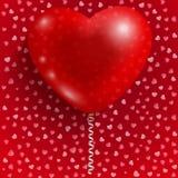 Globo rojo en la dimensión de una variable del corazón Foto de archivo libre de regalías