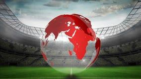 Globo rojo que gira en un estadio libre illustration