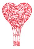 Globo romántico del aire caliente ilustración del vector