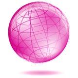 Globo rosado ilustración del vector