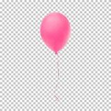 Globo rosado realista ilustración del vector