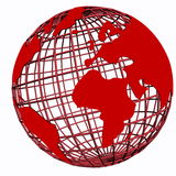 Globo rosso Immagine Stock Libera da Diritti