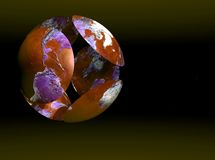 Globo rosso del mondo Fotografia Stock