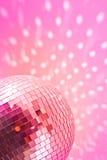 Globo rosso della discoteca Fotografia Stock Libera da Diritti