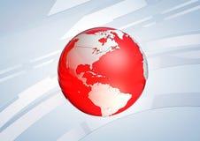 Globo rosso della terra Immagini Stock Libere da Diritti