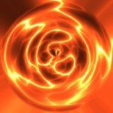 Globo rosso di elettricità Fotografie Stock