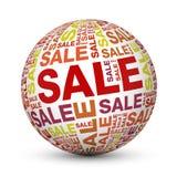 Globo rosso di vendita Fotografia Stock