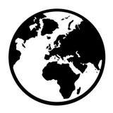 Globo simple de la tierra en formato vectorial Imágenes de archivo libres de regalías