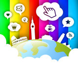 Globo social de la red Foto de archivo libre de regalías