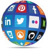 Globo sociale di media Fotografia Stock