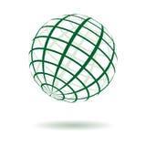 Globo a strisce di verde di vettore royalty illustrazione gratis