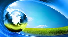 Globo su erba illustrazione vettoriale