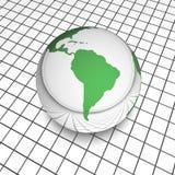 Globo Sudamerica di Digitahi Fotografia Stock Libera da Diritti