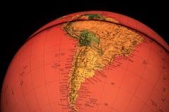 Globo terrestre en fondo negro Imagenes de archivo