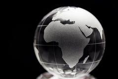 Globo trasparente con fondo nero Immagini Stock Libere da Diritti