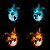 Globo in un fuoco Fotografia Stock Libera da Diritti