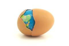 Globo in uovo Immagini Stock