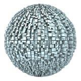 globo urbano astratto della città 3d dalle caselle 01 Immagini Stock