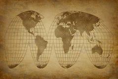 Globo velho do mapa do grunge Fotografia de Stock Royalty Free