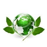Globo verde Fotos de archivo