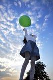 Globo verde Imagenes de archivo