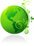 Globo verde Fotos de Stock