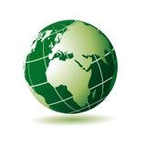 Globo verde africano europeo Fotografia Stock