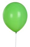 Globo verde aislado en el fondo blanco Fotografía de archivo libre de regalías