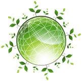 Globo verde circunvizinho das plantas ilustração royalty free