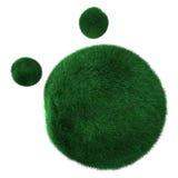 Globo verde com grama Fotos de Stock