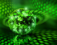 Globo verde de la bola del disco Imagenes de archivo