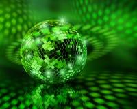 Globo verde della sfera della discoteca Immagini Stock