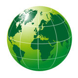 Globo verde internacional Imagem de Stock