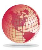 Globo vermelho da terra ilustração do vetor