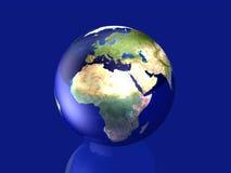 Globo vetroso - Europa, Africa Immagine Stock