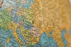 Globo viejo de Europa Imagen de archivo