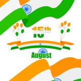 Globo y bandera tricolores indios de la India Imagen de archivo