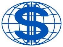 Globo y dólar Imagen de archivo libre de regalías