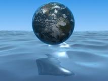 Globo y océano Fotografía de archivo