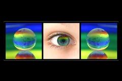 Globo y ojo. Fotos de archivo libres de regalías