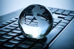 Globo y teclado Imagen de archivo libre de regalías