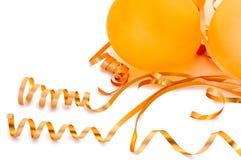 Globos anaranjados. Foto de archivo libre de regalías
