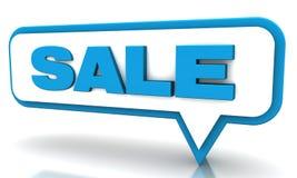 Globos azules de la venta Imágenes de archivo libres de regalías