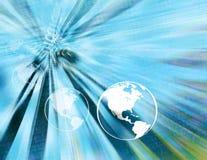 Globos binários da terra (luz - azul) Fotografia de Stock