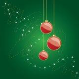 Globos brilhantes do Natal Fotos de Stock Royalty Free